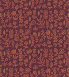 Bloemen naadloos patroon De lente eindeloze achtergrond met bloem, tak, hart, blad enz. in zachte kleuren vector illustratie