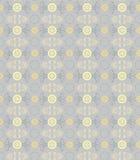Bloemen naadloos patroon, gouden korenbloemen op grijs Royalty-vrije Stock Afbeelding