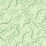Bloemen naadloos patroon in groene kleuren royalty-vrije illustratie