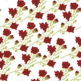 Bloemen naadloos patroon Hand getrokken abstracte gradiëntbloemen met krabbeldecoratie Kleurrijk artistiek ontwerp Het kan worden vector illustratie