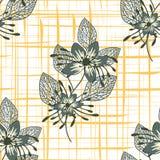 Bloemen naadloos patroon Hand getrokken abstracte bloemen met krabbeldecoratie Kleurrijk artistiek ontwerp Het kan worden gebruik vector illustratie