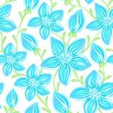 Bloemen naadloos patroon Hand getrokken creatieve bloemen Artistieke achtergrond met bloesem Abstract kruid vector illustratie