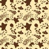 Bloemen naadloos patroon Hand getrokken uitstekende bloemen en bladeren Vector bloemenreeks vector illustratie