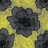 Bloemen naadloos patroon Installatietextuur voor stof, het verpakken, behang en document Decoratieve druk vector illustratie