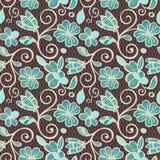 Bloemen naadloos patroon Kleurrijke etnische mandalas in bruine, beige en blauwe kleuren Arabesque vectorornament vector illustratie