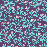 Bloemen naadloos patroon Leuke bloemenkleur bakground Stock Afbeelding