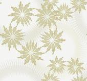 Bloemen Naadloos patroon met beige achtergrond. Royalty-vrije Stock Fotografie