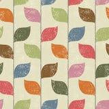 Bloemen naadloos patroon met bladeren Vector Stock Foto