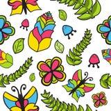 Bloemen naadloos patroon met bloemen Royalty-vrije Stock Foto's