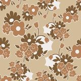 Bloemen naadloos patroon met eenvoudige bloemen Royalty-vrije Stock Foto's