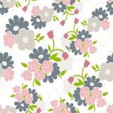 Bloemen naadloos patroon met eenvoudige bloemen Royalty-vrije Stock Afbeelding