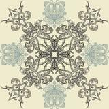 Bloemen naadloos patroon met Islamitisch Arabisch ornament Royalty-vrije Stock Afbeelding