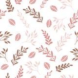 Bloemen naadloos patroon met takken en bladeren Stock Fotografie
