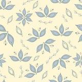 Bloemen naadloos patroon met witachtige gras en bloemen Stille de zomerkleuren Stock Foto