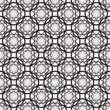 Bloemen naadloos patroon met zwarte bloemen Stock Afbeeldingen