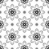 Bloemen naadloos patroon Oriënteer Samenvatting Royalty-vrije Stock Afbeeldingen