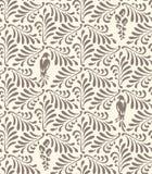 Bloemen naadloos patroon Ornament met gestileerde bladeren, vogels, bloemen vector illustratie