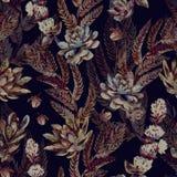 Bloemen naadloos patroon S Royalty-vrije Stock Fotografie
