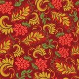 Bloemen naadloos patroon in traditionele Russische stijl Hohloma Stock Afbeeldingen