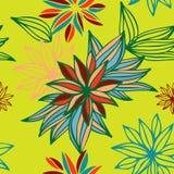 Bloemen naadloos patroon Vector Stock Illustratie