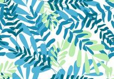 Bloemen naadloos patroon vector tropische bladeren, Manier, binnenland, het verpakken concept vector illustratie