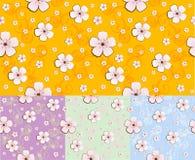 Bloemen naadloos patroon/vectorachtergrond Stock Foto