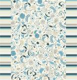 Bloemen naadloos patroon, vectorontwerp Stock Afbeelding