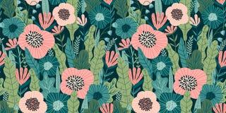 Bloemen naadloos patroon Vectorontwerp voor document, dekking, stof, binnenlands decor stock illustratie