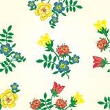 Bloemen naadloos patroon. Vectortextuur met flowe Stock Afbeeldingen