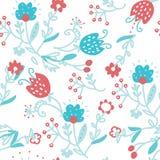 Bloemen naadloos patroon voor textiel - eenvoudig leuk ontwerp royalty-vrije illustratie