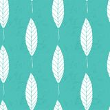 Bloemen naadloos textuurpatroon Hand Getrokken Bladeren Vector bloemenreeks vector illustratie