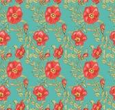 Bloemen naadloos uitstekend patroon 2 Stock Foto