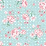 Bloemen naadloos uitstekend patroon 3 royalty-vrije illustratie