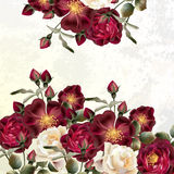 Bloemen naadloos vectorpatroon met bloemen in waterverfstijl royalty-vrije illustratie