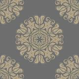 Bloemen naadloos vectorpatroon Oriënteer Samenvatting Stock Foto