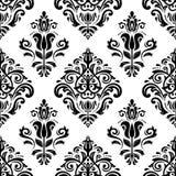 Bloemen naadloos vectorpatroon Oriënteer Samenvatting Stock Afbeelding