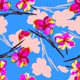 Bloemen naadloze achtergrond Stock Foto