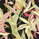 Bloemen naadloze achtergrond. Abstracte Bloei Naadloze Textuur vector illustratie