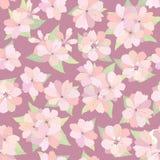 Bloemen naadloze achtergrond. Bloei Japanse textuur. stock illustratie