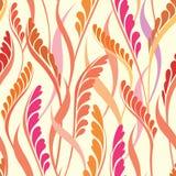 Bloemen naadloze achtergrond. De samenvatting verlaat geometrische Naadloze Textuur stock illustratie