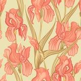 Bloemen naadloze achtergrond Het patroon van de bloem Stock Foto