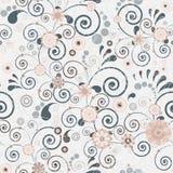 Bloemen naadloze achtergrond van elegante kleuren. Stock Afbeeldingen