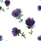 Bloemen naadloze achtergrond, vectorillustratie Royalty-vrije Stock Foto's