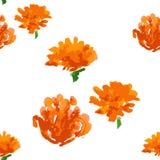 Bloemen naadloze achtergrond, vectorillustratie Royalty-vrije Stock Afbeelding