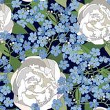 Bloemen naadloze achtergrond. zacht bloempatroon. stock illustratie