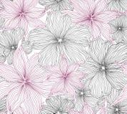 Bloemen naadloze achtergrond. zacht bloempatroon. Stock Afbeelding