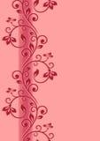 Bloemen naadloze grens stock illustratie