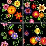 Bloemen naadloze patronen royalty-vrije illustratie
