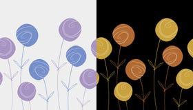 Bloemen naadloze patronen stock foto's
