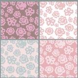Bloemen naadloze patroneninzameling stock illustratie